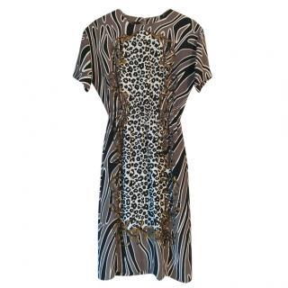 Mother of Pearl x Polly Morgan multi-print silk dress