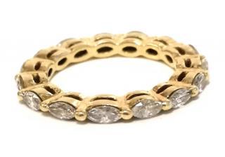 Bespoke Full Diamond Eternity Ring 18ct Gold 1.25ct