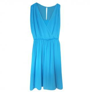 Alice + Olivia blue sleeveless dress