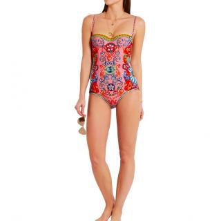 Dolce & Gabbana Sicily Caretto-print swimsuit