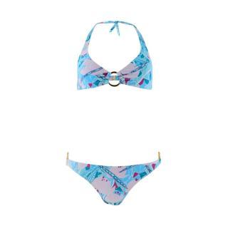 Elizabeth Hurley Printed Bikini Set