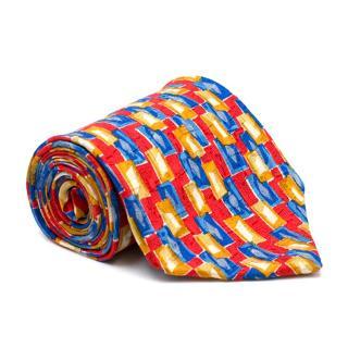 Ermenegildo Zegna Multi-Coloured Printed Silk Tie
