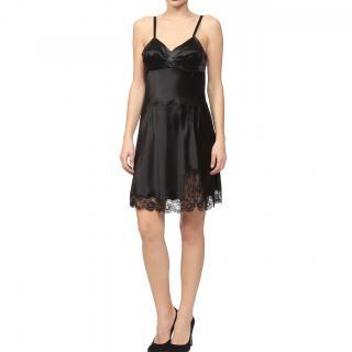 Christian Dior black slip dress