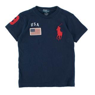 Polo by Ralph Lauren Boys Navy T-shirt