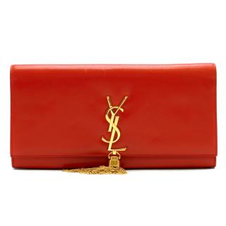 Saint Laurent Kate Tassel Smooth Leather Clutch