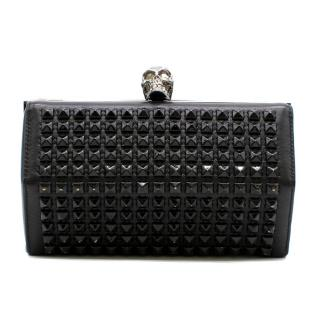 Alexander McQueen Black Studded Hexagon Box Clutch