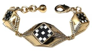 Lulu Frost Mother of Pearl Checkerboard Bracelet