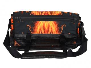 Issey Miyake multi-coloured abstract-print sling bag