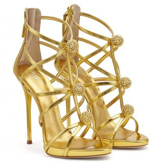 Giuseppe Zanotti Gold Mirrored Candy Sandals