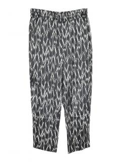 Isabel Marant allover graphic-print silk trousers