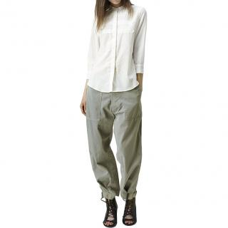 Band of Outsiders oversized cotton slouchy chino trousers