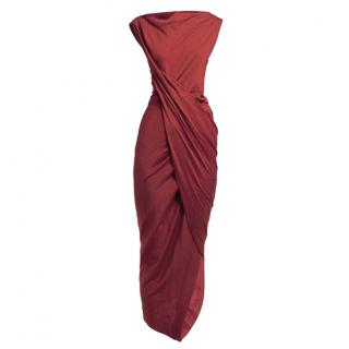 Vivienne Westwood Anglomania Draped Wrap Jersey Dress