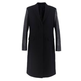 Neil Barrett Masculine Fit Black Wool-blend Long Coat