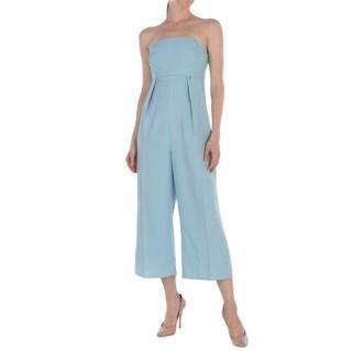 Elizabetta Franchi blue strapless jumpsuit