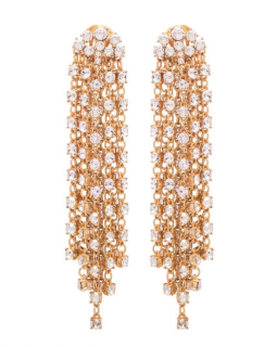 Oscar De La Renta Cascade Swarovski Earrings