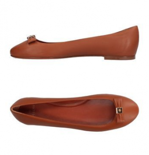 Mulberry Tan Ballet Pumps