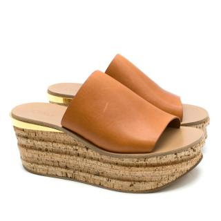 678799b7ce9 Chloe Camille Leather Wedge Sandals