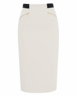 Amanda Wakeley Cream Sculpted Skirt