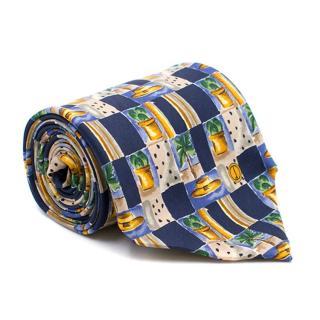 Dunhill Printed Silk Tie