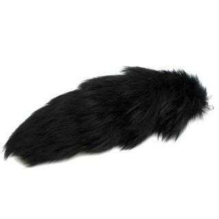 Alexander McQueen Black Fox Fur Tail Charm