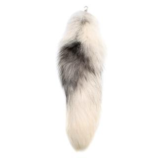 Alexander McQueen White Fox Fur Tail Charm