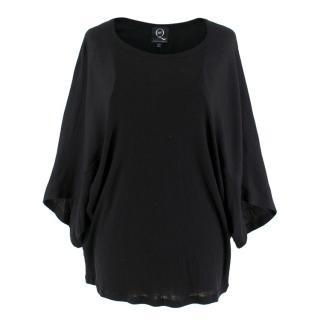 McQ By Alexander McQueen Black Kimono T-Shirt Top