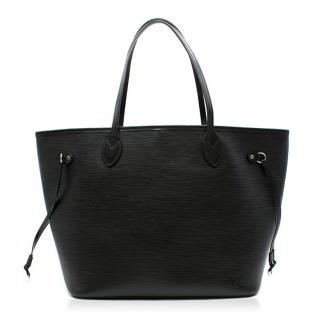 Louis Vuitton Black Neverfull MM Tote Bag