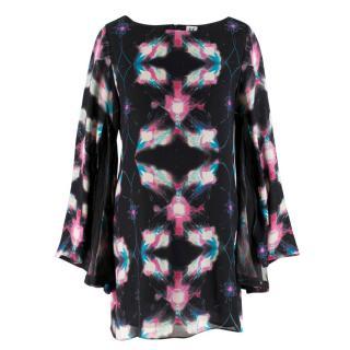 Halston Printed Silk Dress