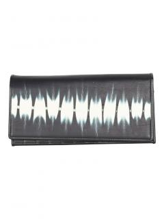 Issey Miyake Men's abstract print leather long wallet
