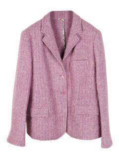Etro Melange wool and alpaca-blend blazer