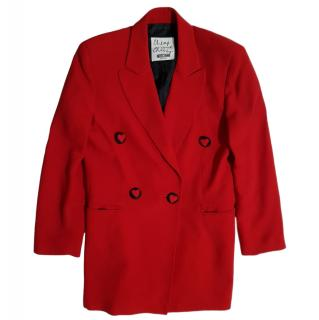 Moschino Cheap & Chic vintage red silk blazer