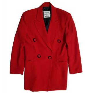 Moschino Cheap & Chic vintage red silk blazer