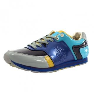 Christian Audigier Michael Patent Turquoise Trainers