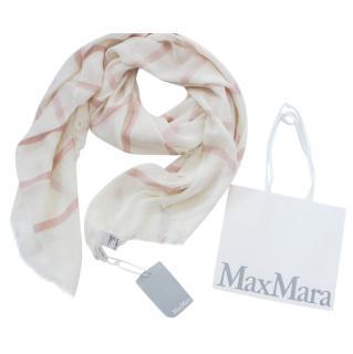 Max Mara Striped Cashmere Blend Shawl