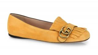 Gucci Yellow Marmont Ballerina Pumps