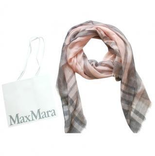 Max Mara Blush Cashmere Blend Scarf