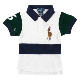 Polo by Ralph Lauren White Color-block Polo Shirt