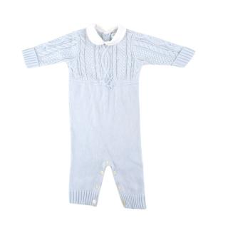 Ralph Lauren Baby Blue Cable Knit Set