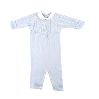 Ralph Lauren Baby Blue Cable Knit Set