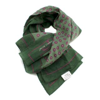 Jacob Cohen Green Floral Print Square Scarf