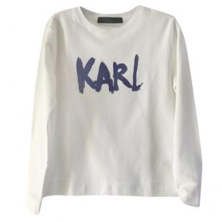 Karl lagerfeld white sweatshirt