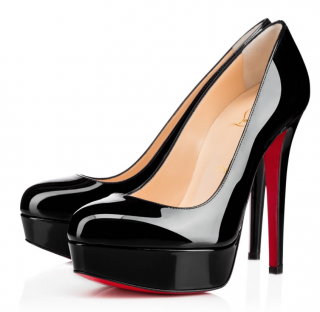 Christian Louboutin Black Patent Bianca 140 Pumps