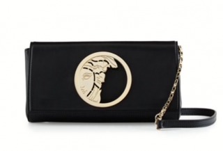 Versace Black Medusa Clutch on Chain