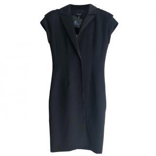 Lanvin black wool & silk dress