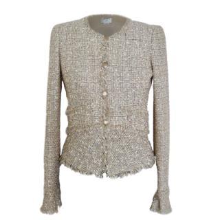 Chanel tweed lesage metallic jacket
