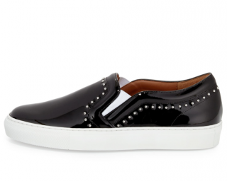 Givenchy Black Patent Leather Studded Sneakers