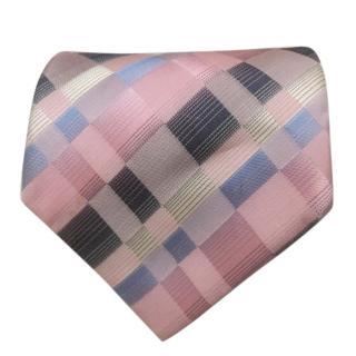 Pierre Balmain 100% silk pink/multi tie