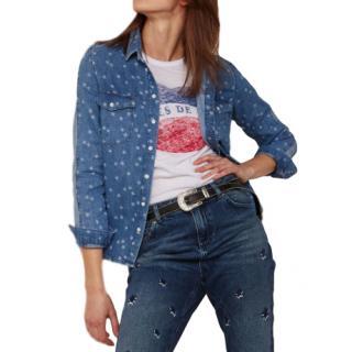 Zoe Karssen Star Print Denim Shirt