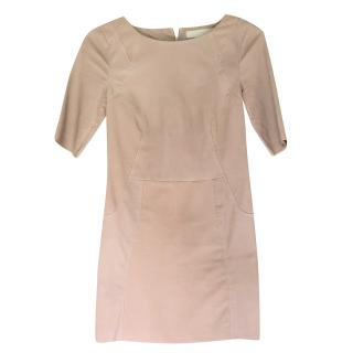 Drome short sleeved leather dress