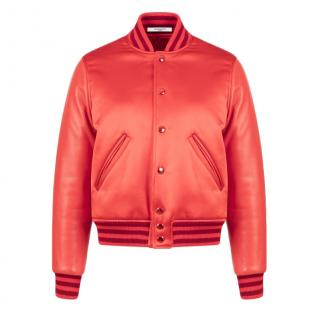 Givenchy Red satin duchesse bomber jacket